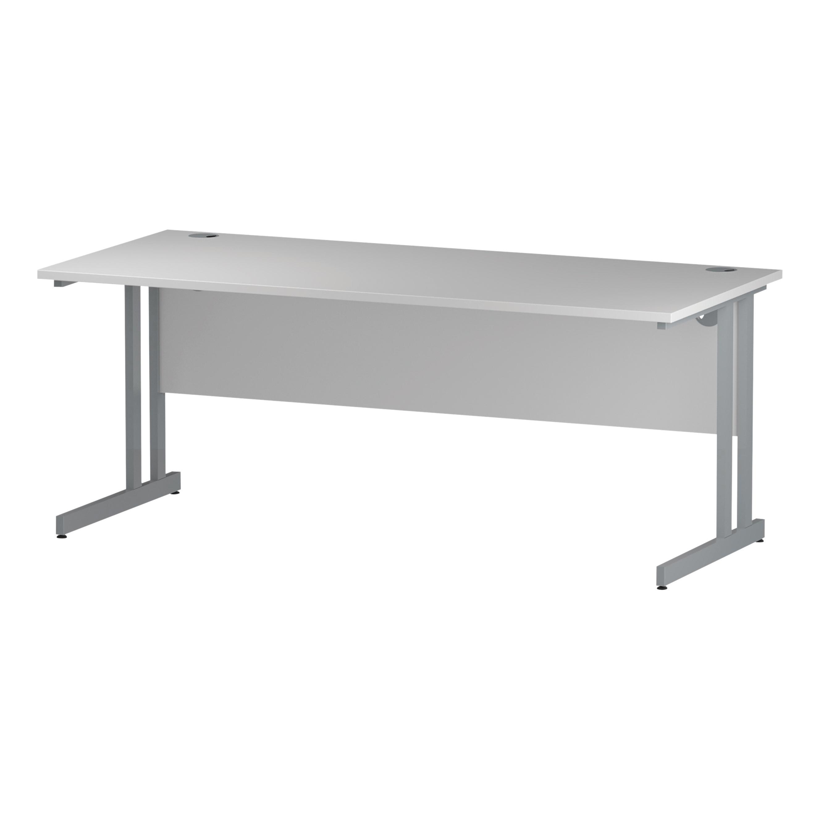 Trexus Rectangular Desk Cantilever Leg 1800mm White