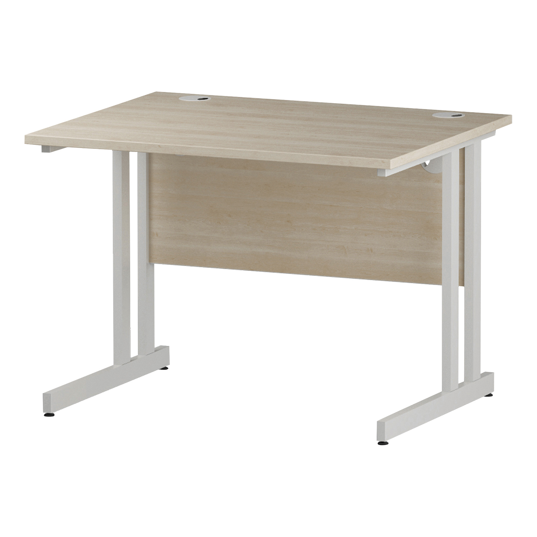 Trexus Rectangular Desk White Cantilever Leg 1000x800mm Maple Ref I002416
