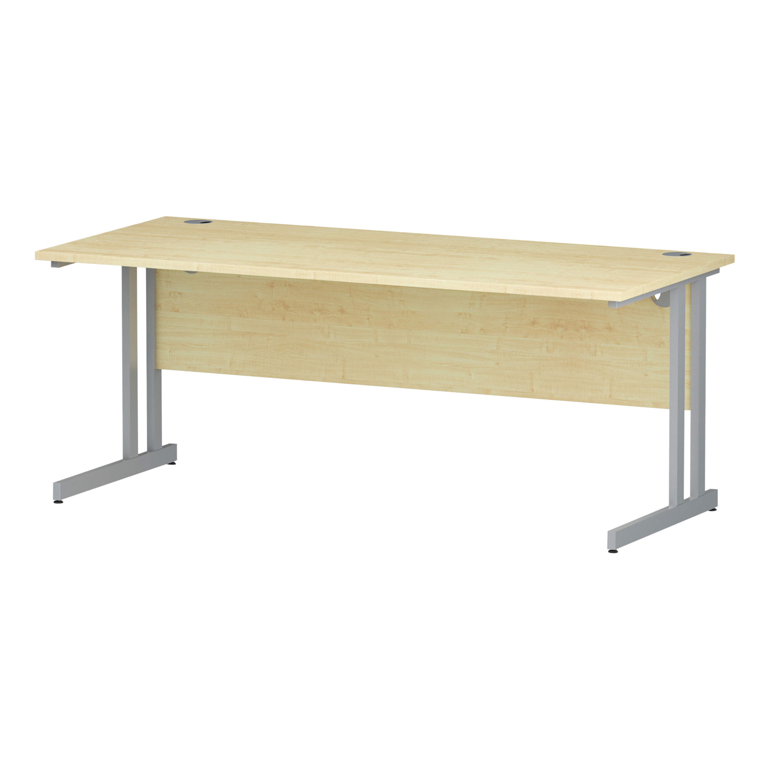 Trexus Rectangular Desk Silver Cantilever Leg 1800x800mm Maple Ref I000352