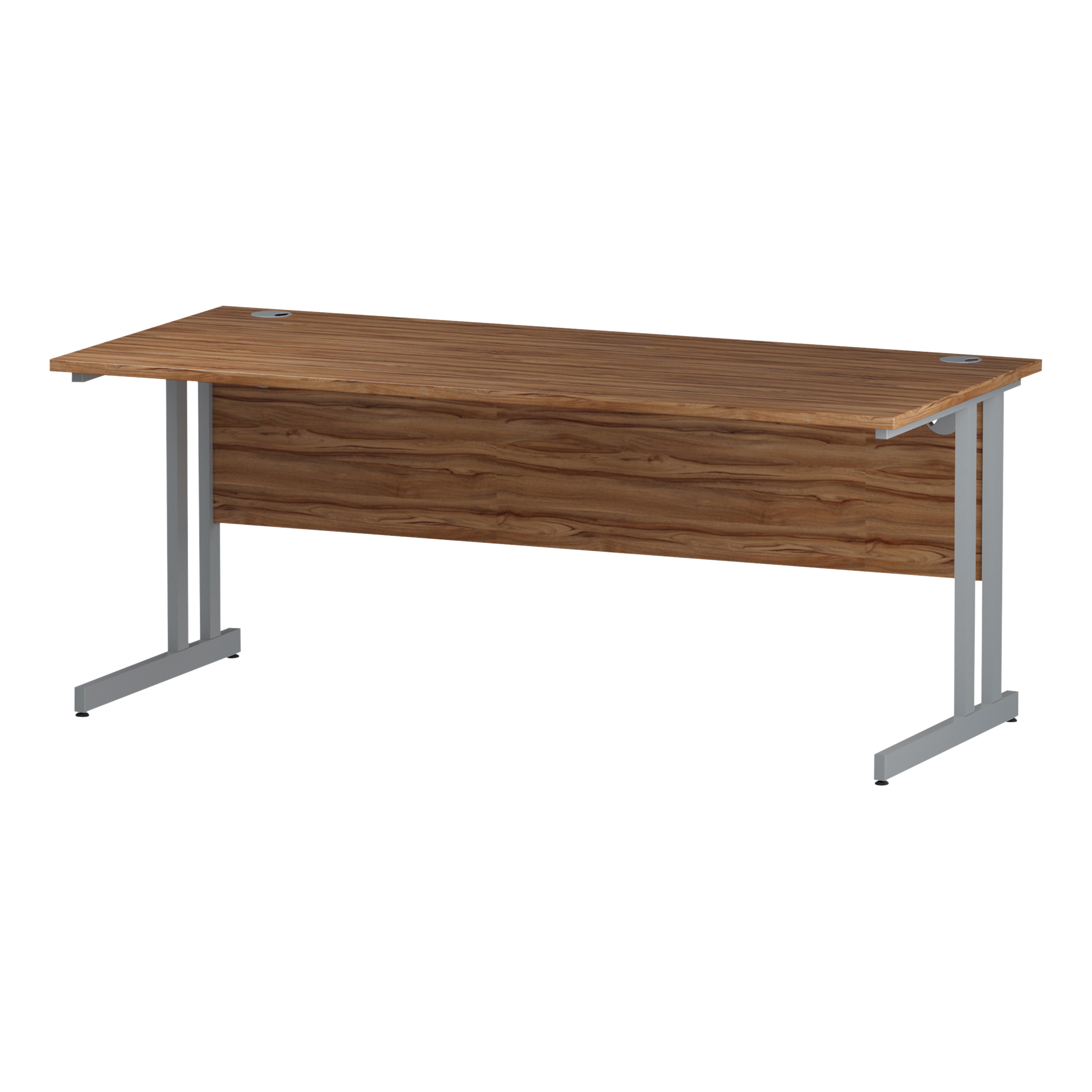 Trexus Rectangular Desk Silver Cantilever Leg 1800x800mm Walnut Ref I001903