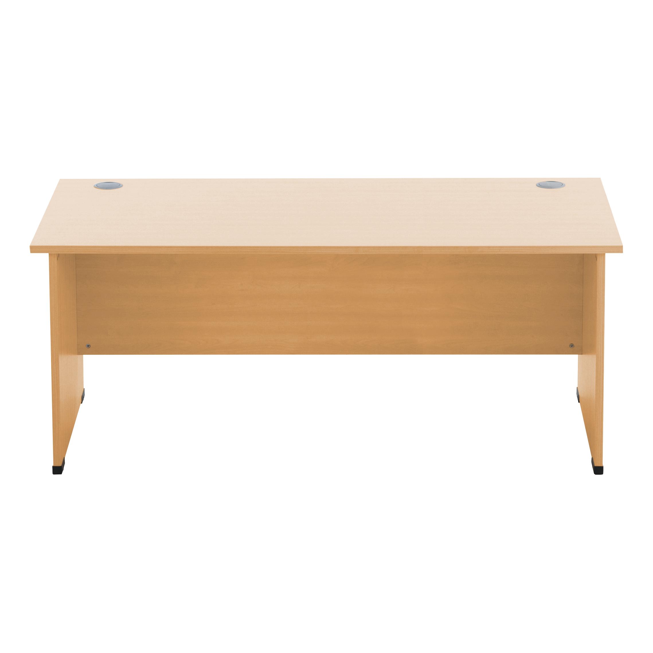 Sonix Rectangular Desk Panel End Leg 1800x800mm Rich Beech Ref w9405b