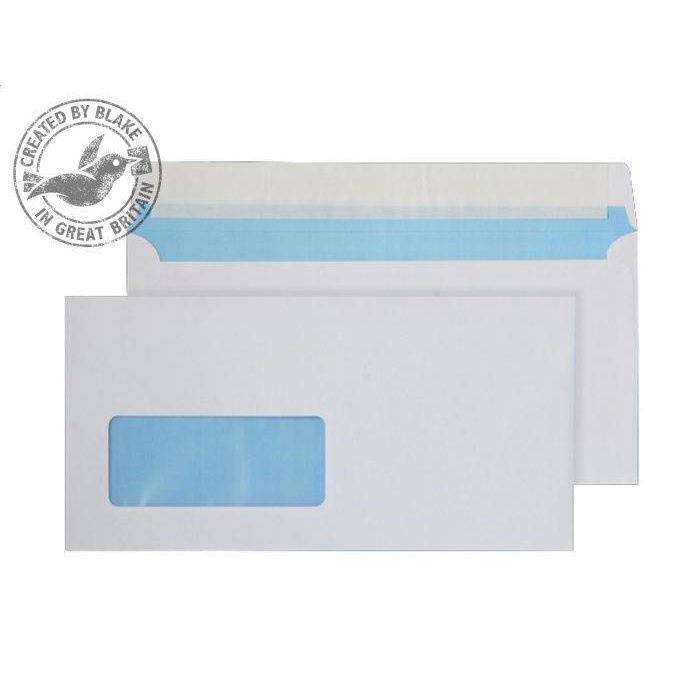 Purely Everyday Wallet P&S Low Window White 110gsm DL 110x220mm Ref FSC067 Pk 500 10 Day Leadtime