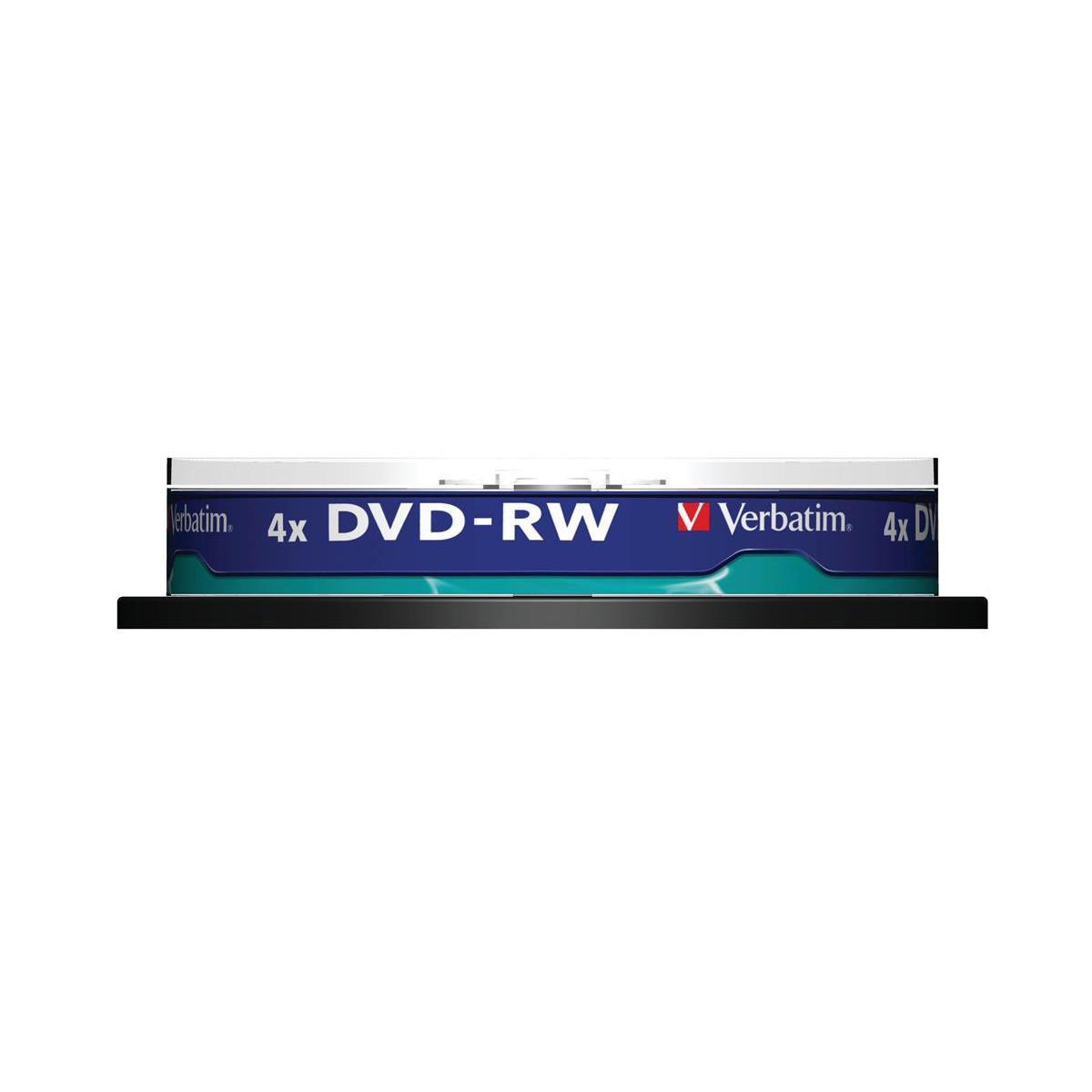 Verbatim DVD-RW Recordable Ref 43552 [Pack 10]