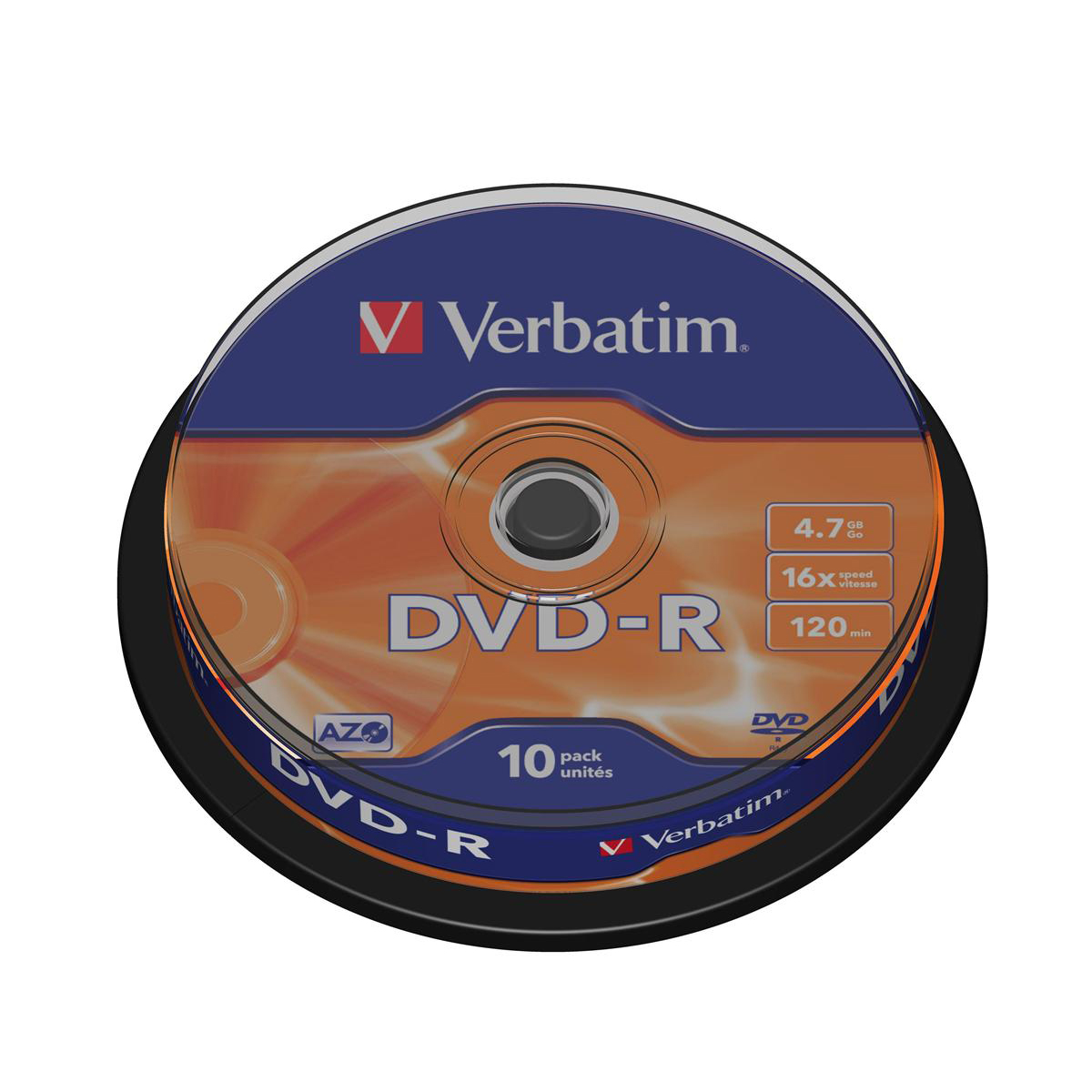 Verbatim DVD-R Spindle Ref 43523 Pack 10