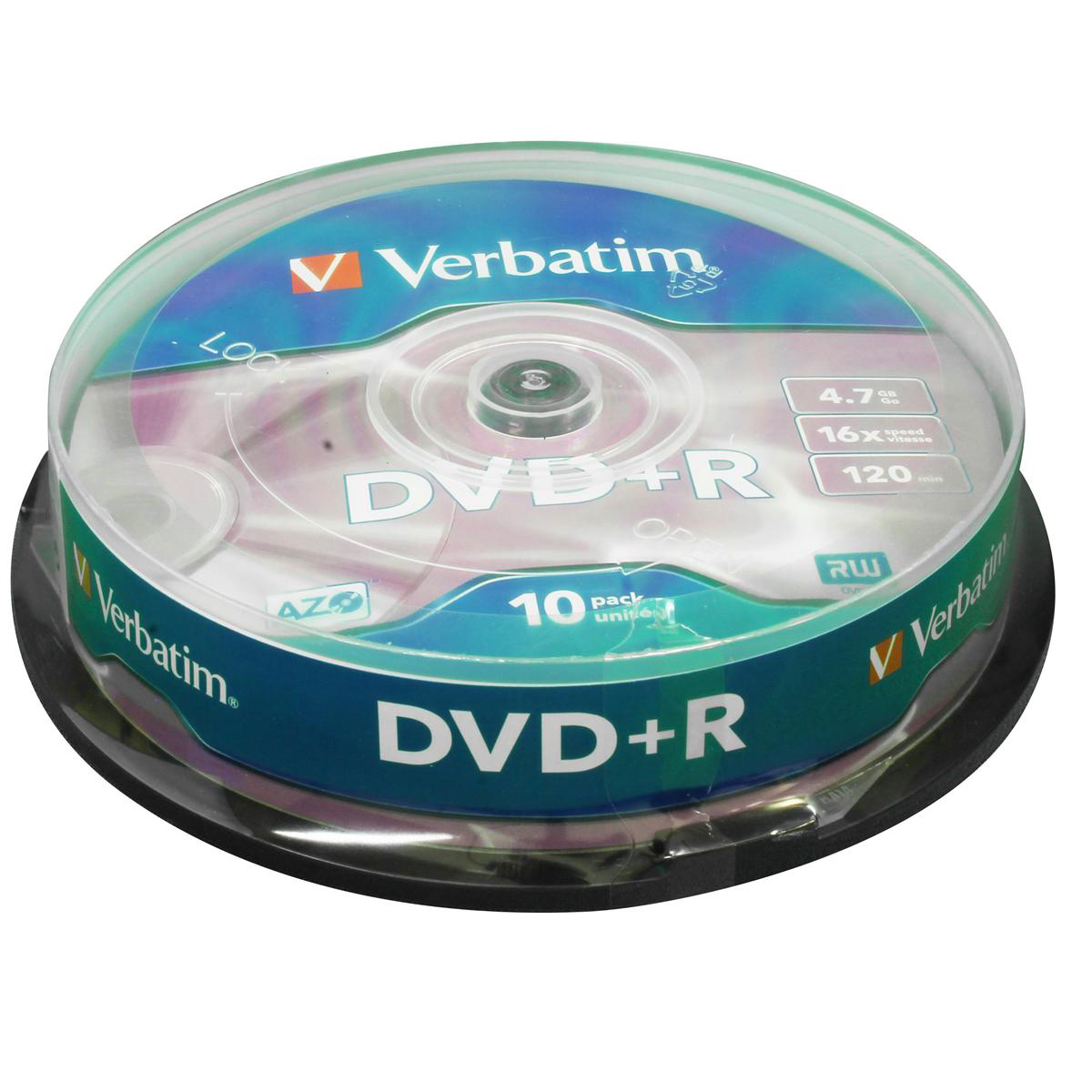 Image for Verbatim DVD+R Spindle Ref 43498 [Pack 10]