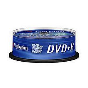 Verbatim DVD+R Spindle Ref 43500-1 Pack 25