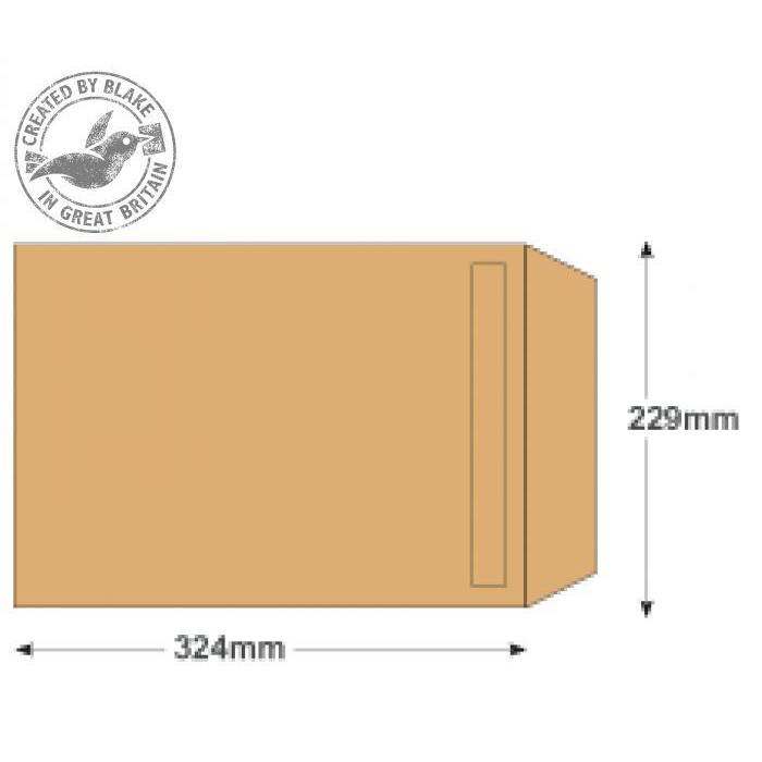 Purely Everyday Manilla Self Seal Pocket C4 324x229mm Ref 1385 Pack 250 *10 Day Leadtime*