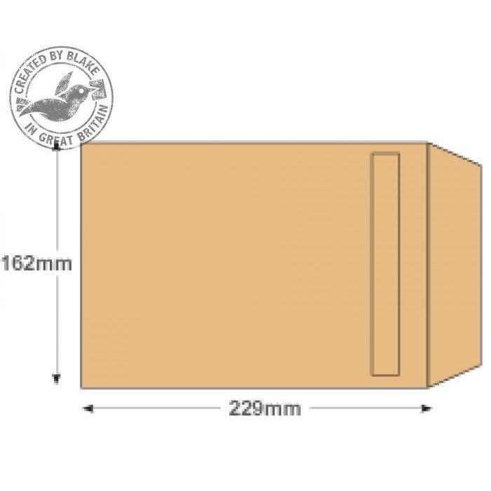 Purely Everyday Manilla Self Seal Pocket C5 229x162mm Ref 13885 Pack 500 *10 Day Leadtime*