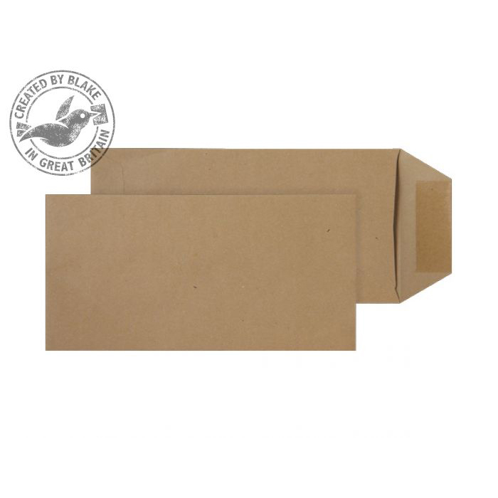 Purely Everyday Pocket Gummed Manilla 80gsm DL 220x110mm Ref 23780 [Pack 500] 10 Day Leadtime