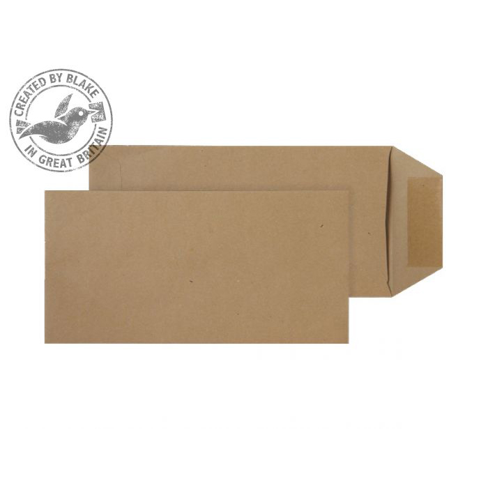 Purely Everyday Pocket Self Seal Manilla 80gsm DL 220x110mm Ref 2244 [Pack 500] 10 Day Leadtime