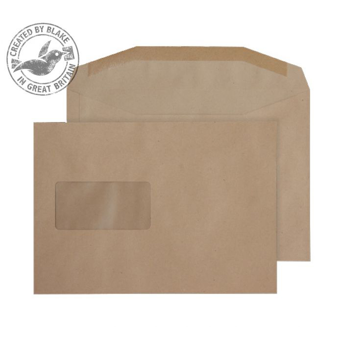 Purely Everyday Mailer Gummed Window Manilla 80gsm C5+ 162x235mm Ref 4406 Pk 500 10 Day Leadtime