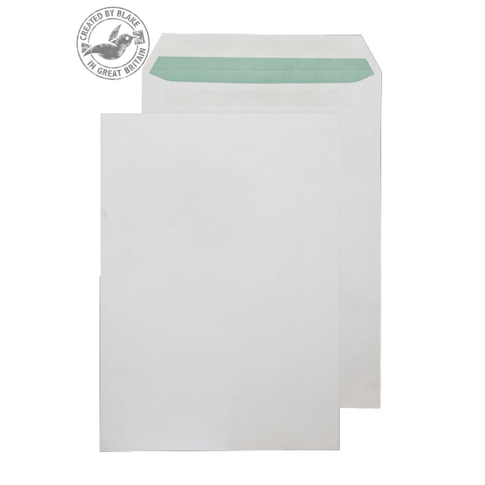 Purely Environmental Pocket Self Seal Natural White 90gsm C4 Ref RE6261 Pk250 *10 Day Leadtime*