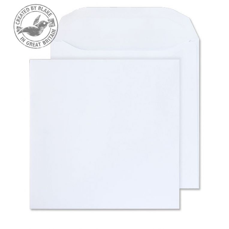 Blake Purely Everyday 220x220mm Square Wallet SelfSeal 100gsm White Ref5701 Pack250 *3to5 Day Leadtime*