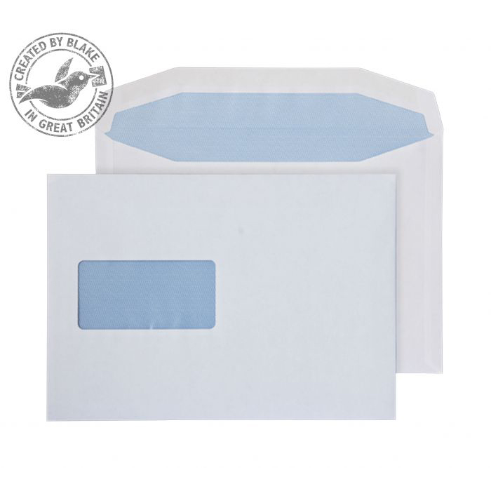 C5 Purely Everyday Mailer Gummed Window White 90gsm C5+ 162x238mm Ref 4708 Pk 500 *10 Day Leadtime*