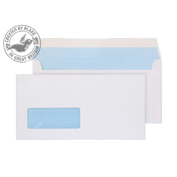 Purely Everyday White P&S Wallet Window DL 110x220mm Ref 23884 [Pack 500] 10 Day Leadtime