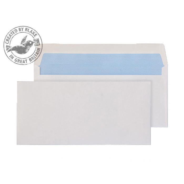 Blake Purely Everyday DL BRE 102x216mm Wallet Gummed 80gsm White Ref 2700 Pack 1000 *3to5 Day Leadtime*