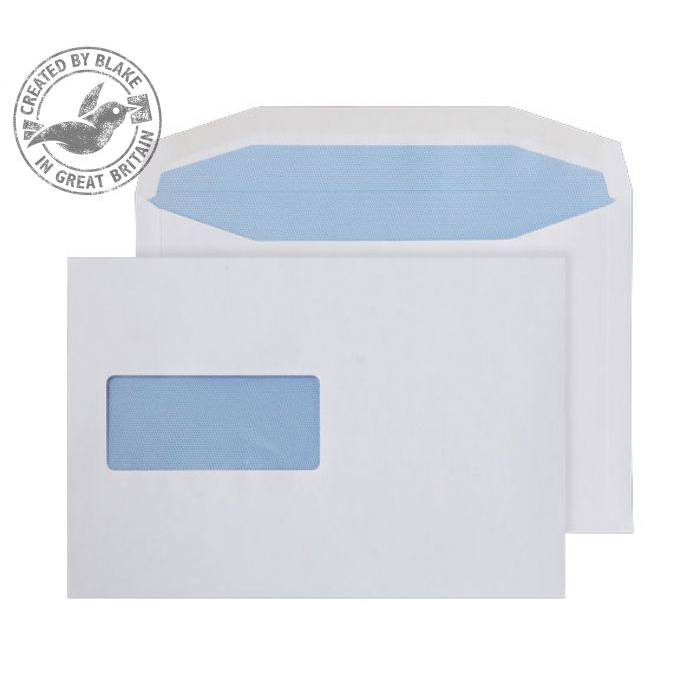Purely Everyday Mailer Gummed Window White 90gsm C5+ 162x235mm Ref W156 Pk 500 10 Day Leadtime
