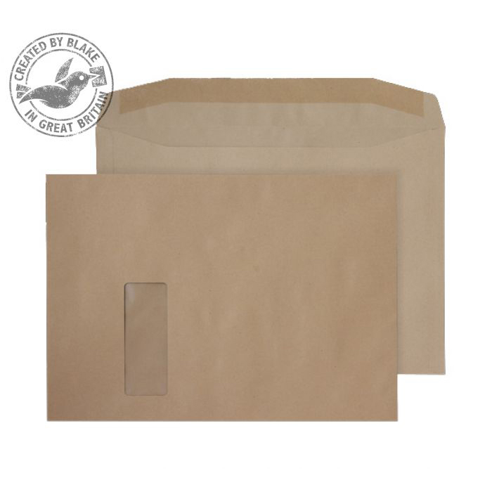 Purely Everyday Mailer Gummed Window Manilla 100gsm C4 229x324mm Ref 2710 Pk 250 10 Day Leadtime