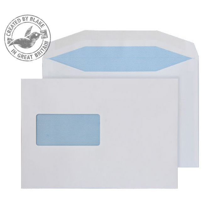 Purely Everyday Mailer Gummed Window White 90gsm C5- 155x220mm Ref 2801 Pk 500 10 Day Leadtime