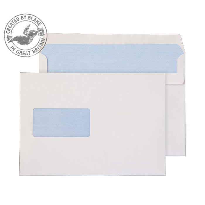 Purely Everyday White Self Seal Wallet Window C5 162x229mm Ref 1708 [Pack 500] 10 Day Leadtime
