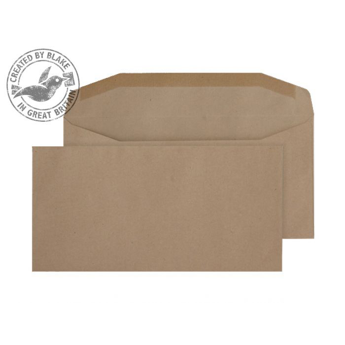 Purely Everyday Mailer Gummed Manilla 80gsm DL 110x220mm Ref 13780 [Pack 1000] *10 Day Leadtime*