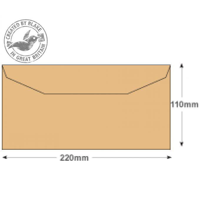 Purely Everyday Mailer Gummed Manilla 80gsm DL 110x220mm Ref 13780 Pack 1000 *10 Day Leadtime*