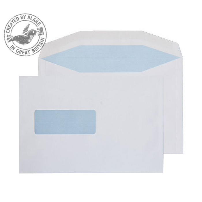 Purely Everyday White Gummed Mailing Wallet Window C5+ 162x238mm Ref 1006 Pk 500 *10 Day Leadtime*