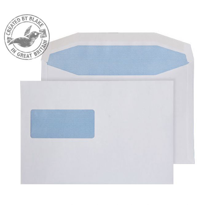 Purely Everyday Mailer Gummed High Window White 90gsm C5+ 162x238 Ref W154 Pk 500 10 Day Leadtime