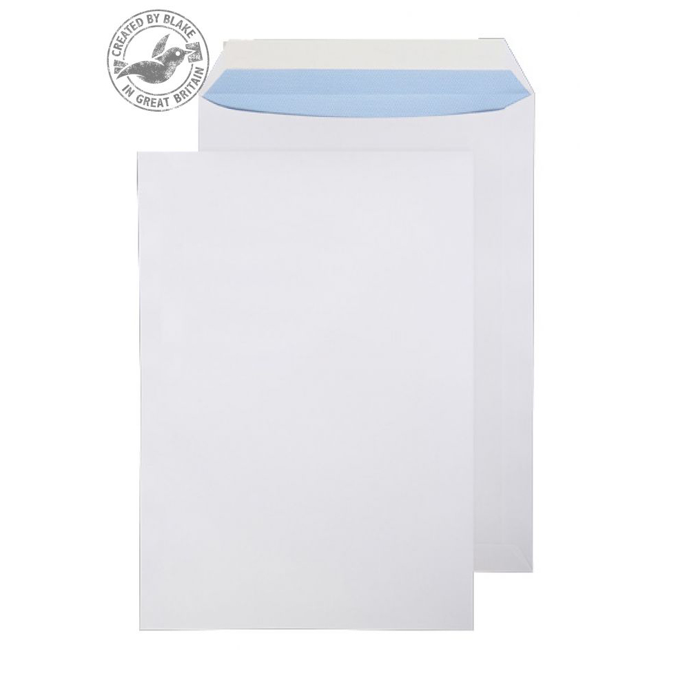 Purely Everyday White Peel and Seal Pocket C4 324x229mm Ref 23891 [Pack 250] *10 Day Leadtime*
