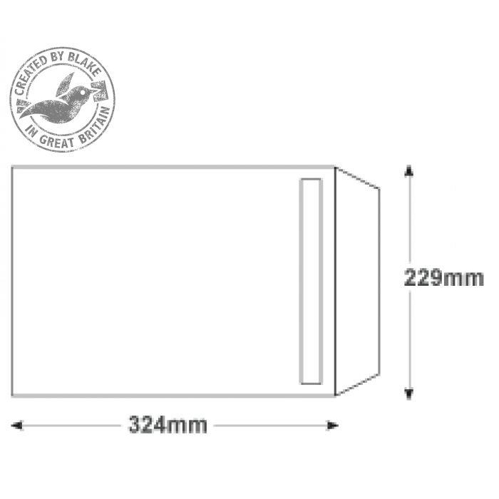 Purely Everyday White Peel and Seal Pocket C4 324x229mm Ref 23891 [Pack 250] 10 Day Leadtime