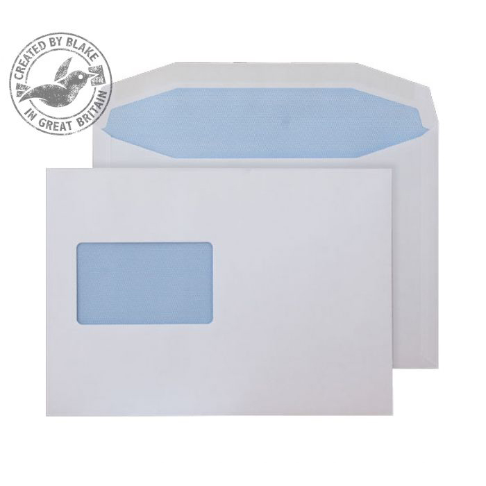 Purely Everyday Mailer Gummed CBC Wndw White 90gsm C5+ 162x235 Ref 5802CBC Pk500 10 Day Leadtime