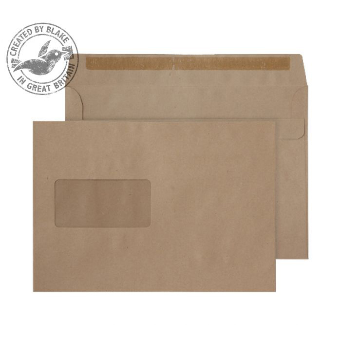 Purely Everyday Manilla Self Seal Wallet Window C5 162x229mm Ref 1608 Pack 500 *10 Day Leadtime*