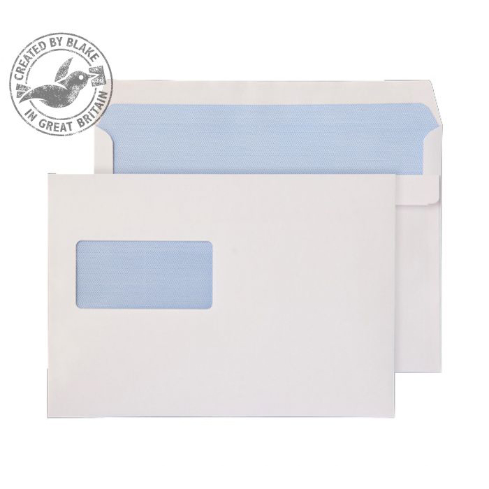 Purely Everyday White Self Seal Wallet Window C5 162x229mm Ref 1709 [Pack 500] *10 Day Leadtime*