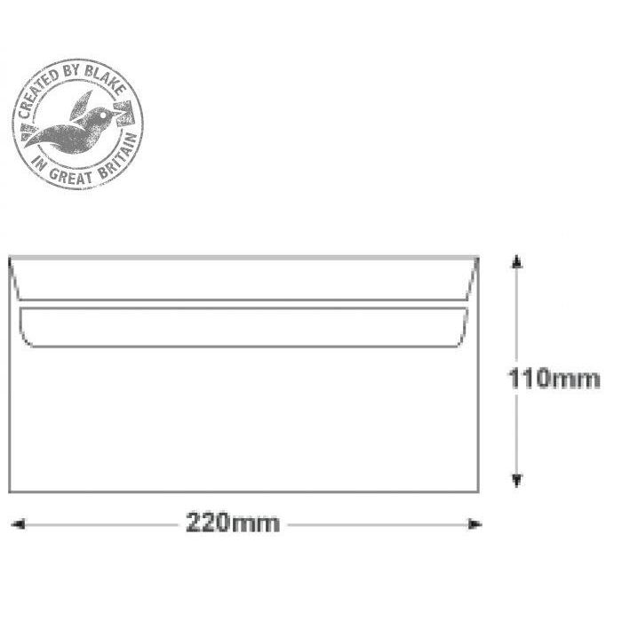 Purely Everyday White Self Seal 80gsm DL 110x220mm Ref FL2882 [Pack 1000] *10 Day Leadtime*