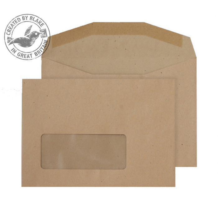 Blake Purely Everyday C6 Mail Wallet Gummed Window 80gsm Manilla Ref NV358 Pack1000 *3to5 Day Leadtime*