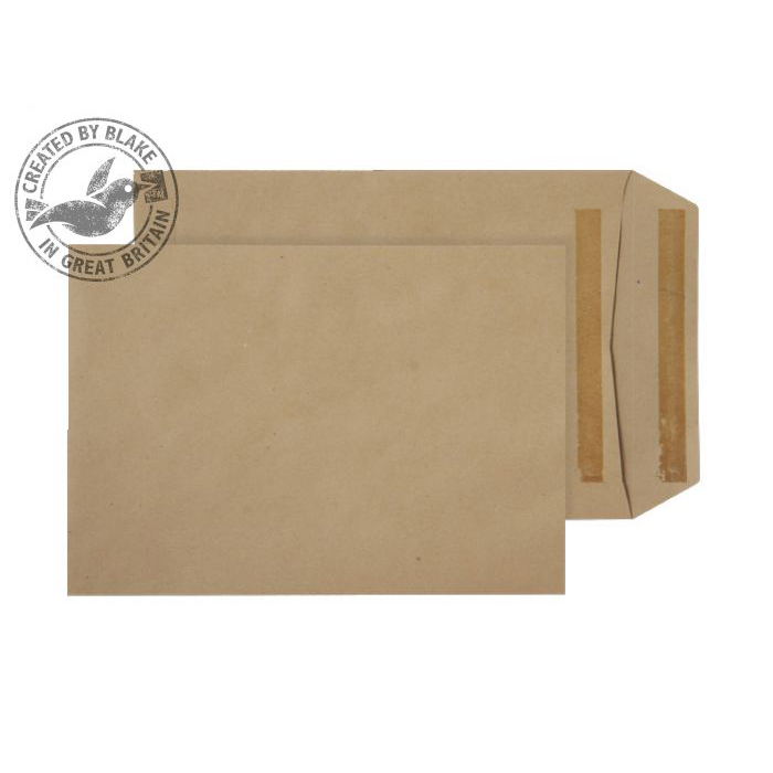 Blake Purely Everyday 254x178mm Pocket Self Seal 90gsm Manilla Ref 9067 Pack 500 *3to5 Day Leadtime*