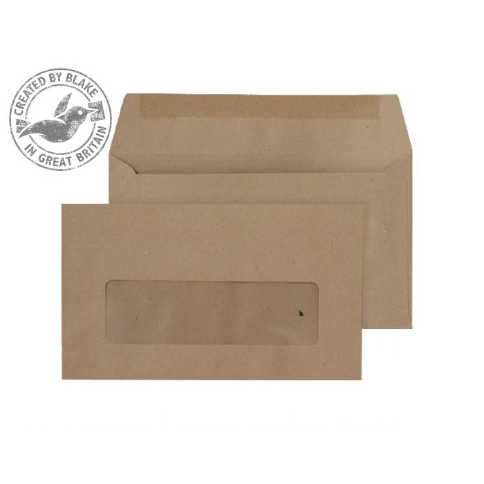 Wage Envelopes Purely Everyday Wallet Gummed Window Manilla 70gsm 89x152mm Ref 23770 Pk 1000 *10 Day Leadtime*