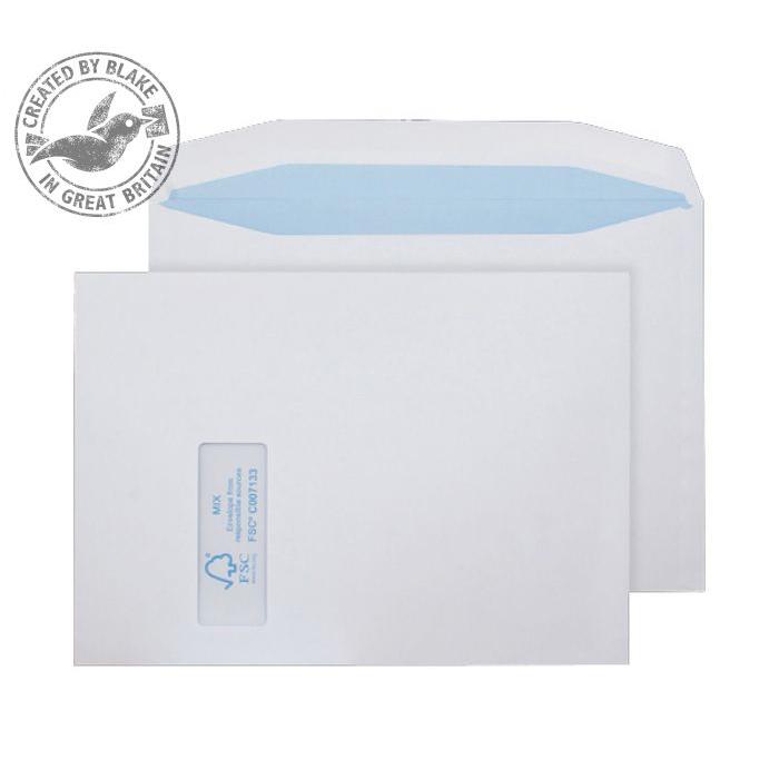 Purely Environmental Mailer Gummed Wndw White 100gsm C4 229x324 Ref FSC371 Pk250 10 Day Leadtime