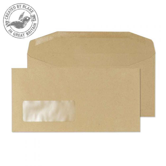 Purely Everyday Mailer Gummed Window Manilla 80gsm DL 110x220 Ref 13810 Pk 1000 *10 Day Leadtime*