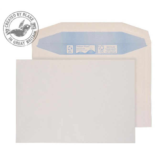 Purely Environmental Mailer Gummed White 100gsm C4 229x324mm Ref RN040 [Pack 250] *10 Day Leadtime*