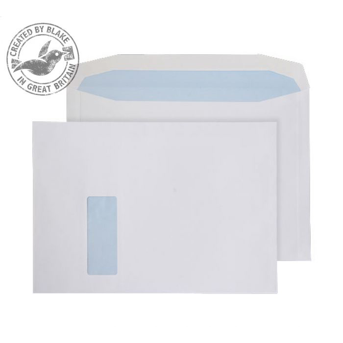 Purely Everyday Mailer Gummed Window White 120gsm C4 229x324mm Ref 6710 Pk 250 10 Day Leadtime