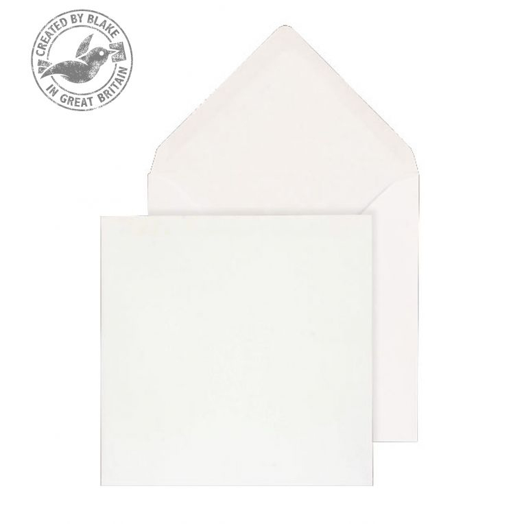 Purely Everyday Square Banker Invit Gum White 100gsm 130x130 Ref ENV0130 Pk500 10 Day Leadtime