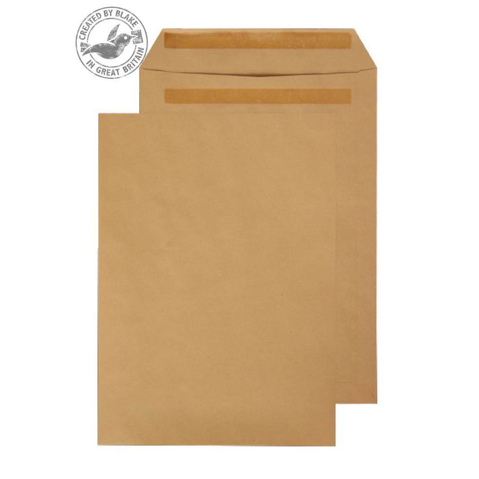 Purely Everyday Manilla Self Seal Pocket B4 352x250mm Ref 18160 [Pack 250] 10 Day Leadtime