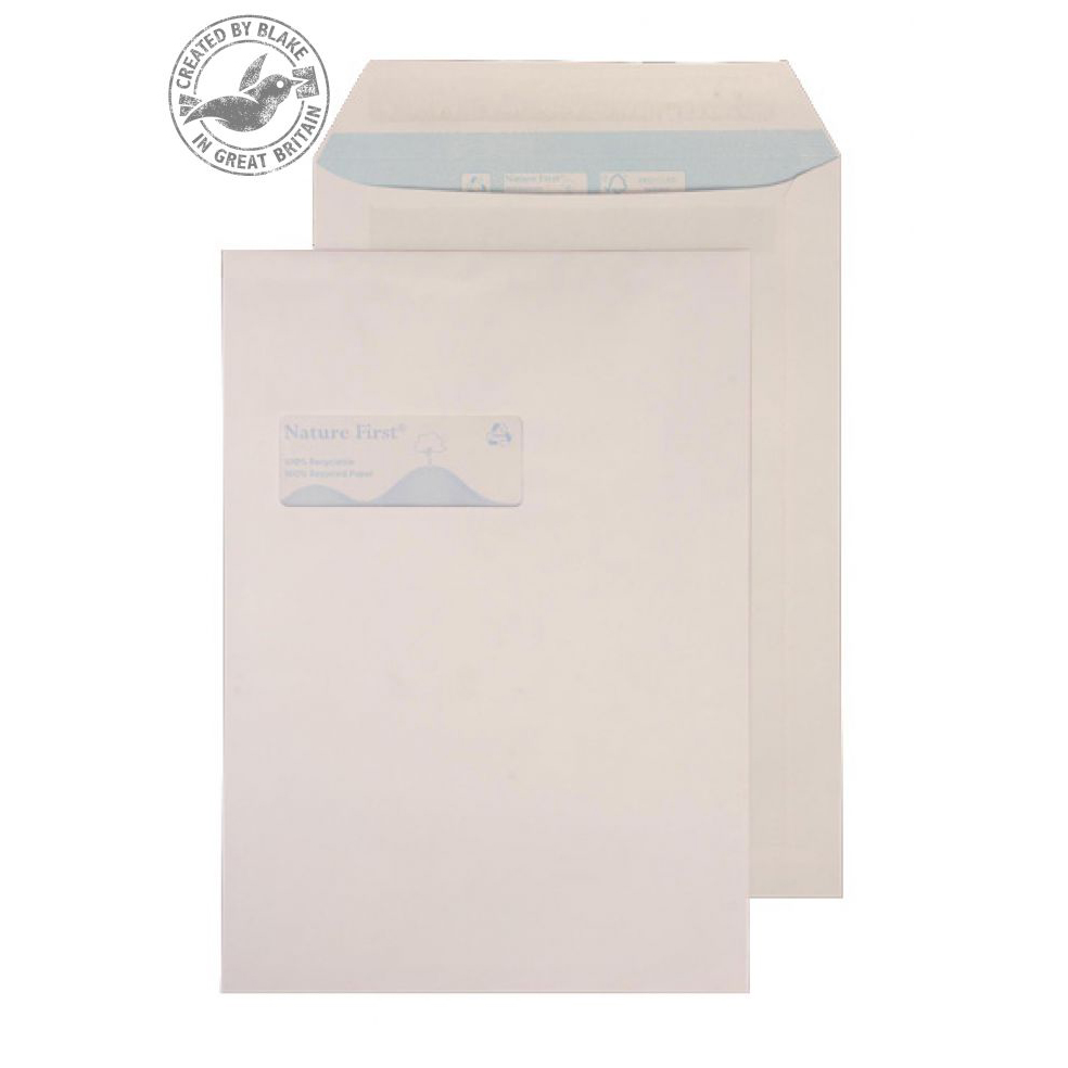 Purely Environmental Pocket Self Seal High Wndw White 100gsm C4 Ref RN17892 Pk250 *10 Day Leadtime*