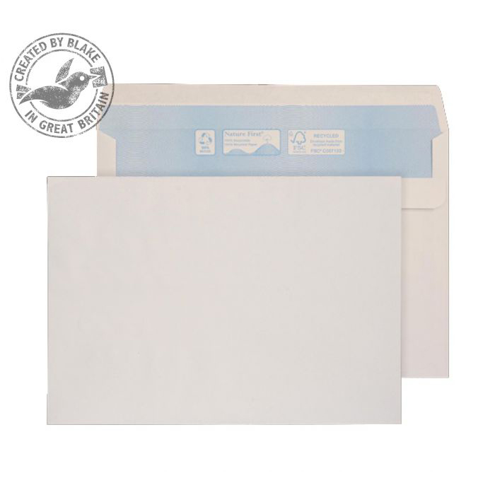 Purely Environmental Wallet Self Seal White 90gsm C5 162x229mm Ref RN024 Pk 500 10 Day Leadtime