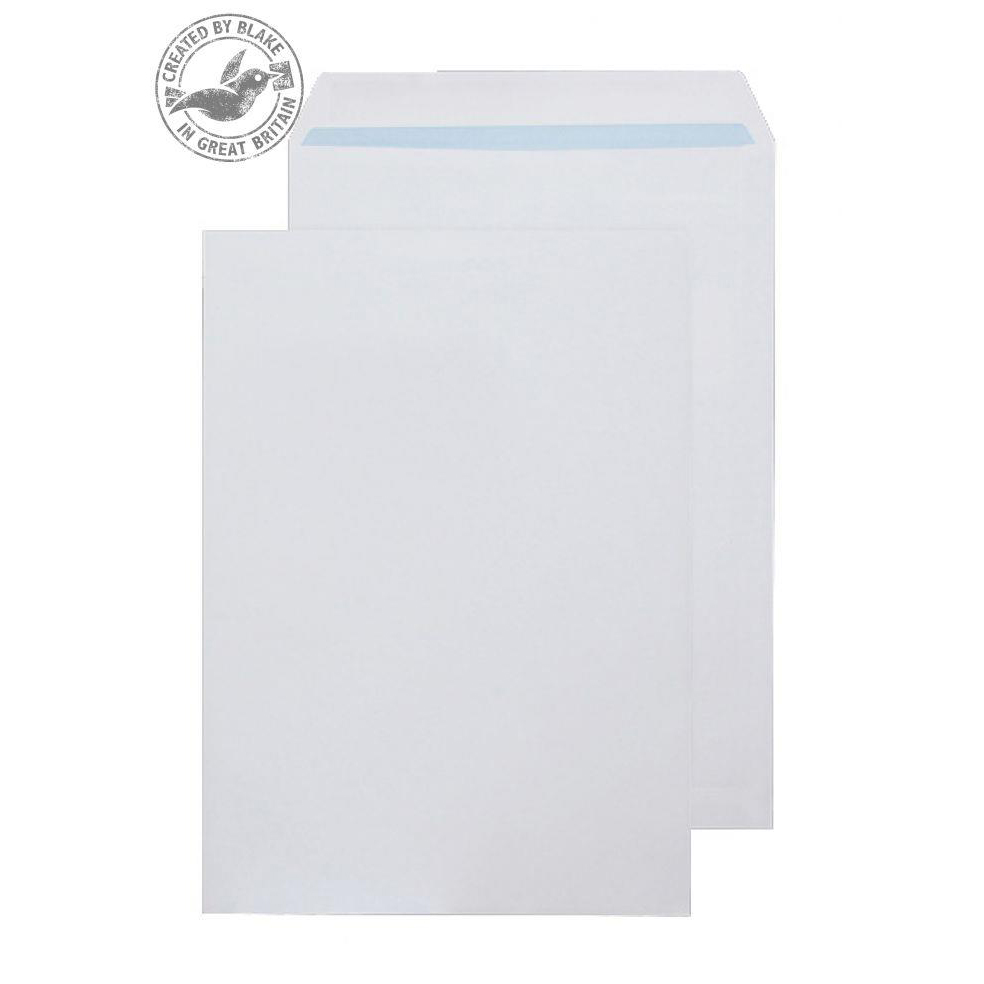 Blake Purely Environmental C4 Pocket Self Seal 100gsm White Ref RD7891 Pack 250 *3to5 Day Leadtime*
