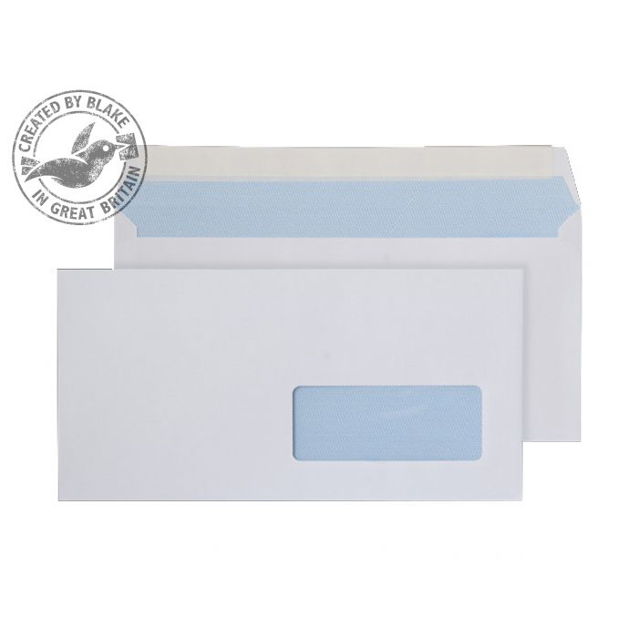 Purely Everyday Wallet P&S Right-Hand Wndw White 100gsm DL Ref 25885RH Pk500 10 Day Leadtime