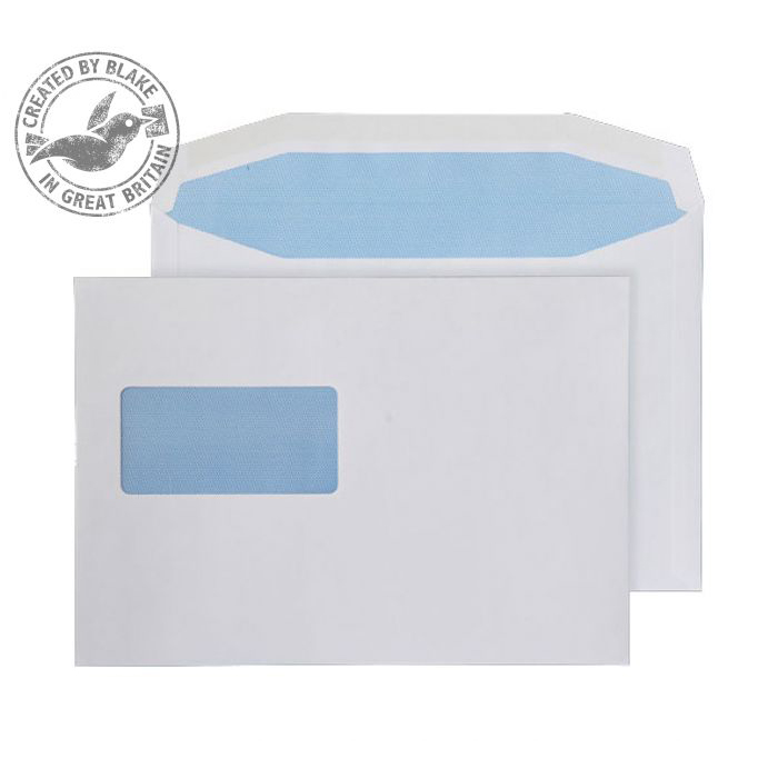 Purely Everyday Mailer Gummed High Window White 110gsm C5 162x229 Ref 8706 Pk 500 *10 Day Leadtime*