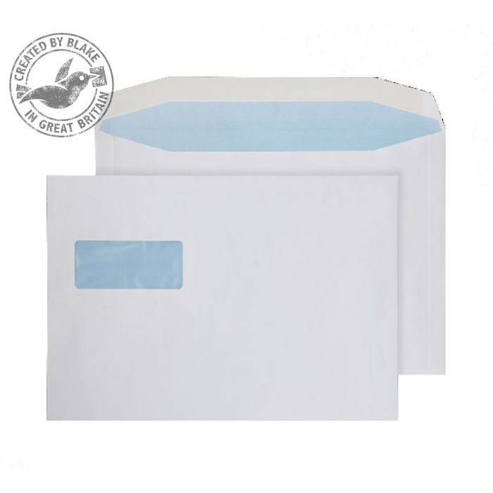 Purely Everyday Mailer Gum Landscape Wndw White 100gsm C4 229x324 Ref 3730W Pk250 *10 Day Leadtime*