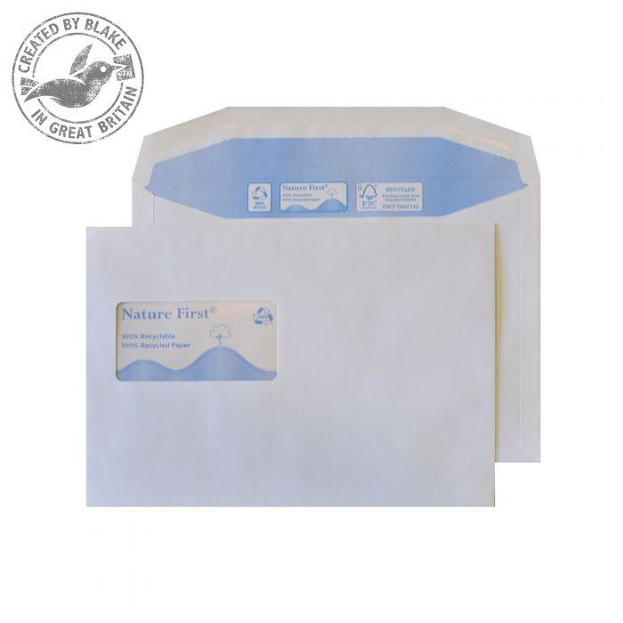 Purely Environmental Mailer Gum High Wndw White 90gsm C5 162x229 Ref RN026 Pk500 10 Day Leadtime